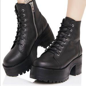Current Mood Lace Up Platform Boots